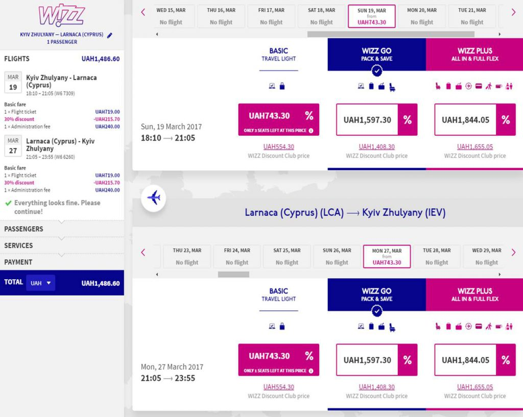 kiev-larnaca-kiev-wizz-discount